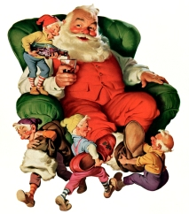 It wasn't until Coca-Cola used Santa in its advertising in the 1930s that Santa became a full-sized man again. The Coke depiction was so popular and iconic, that it completely overwhelmed the others, becoming the de facto depiction of Santa Claus.